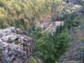 Sólyomkő-szikla Kirulyfürdő felett